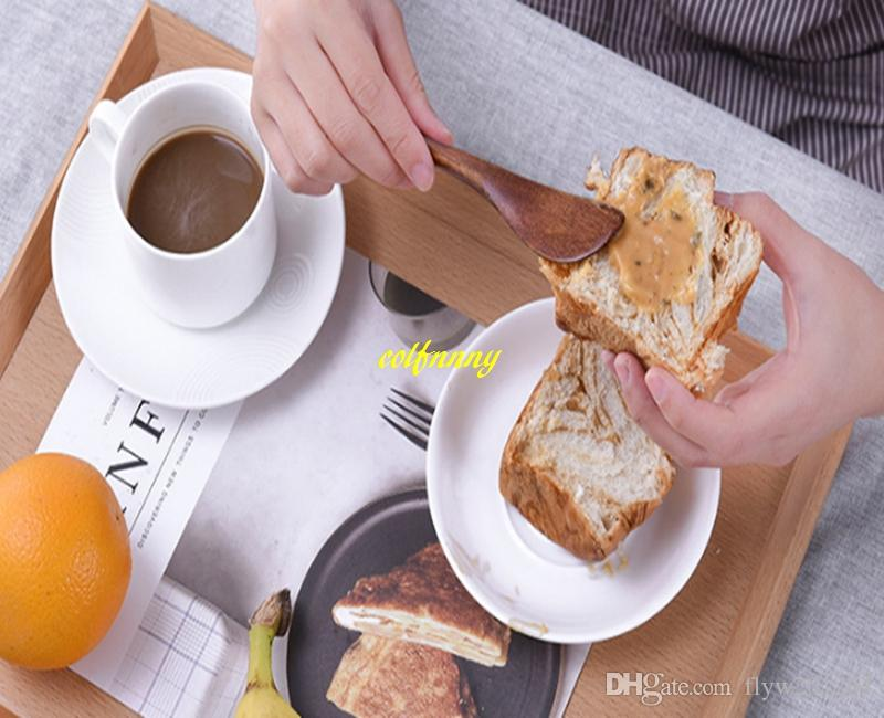 Fast shipping New style 15*2.5cm Wooden Cheese Knives Nanmu Breakfast Jam Knife Flatware