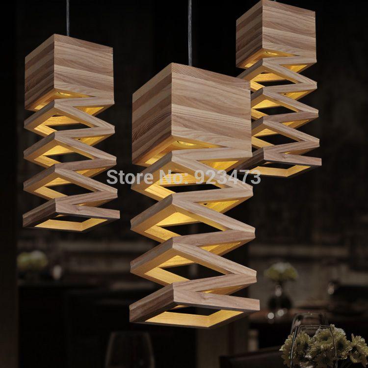 wholesale novelty wood pendant light lamp vintage abajur sala home decoration creative pendant light chinese style design lamp