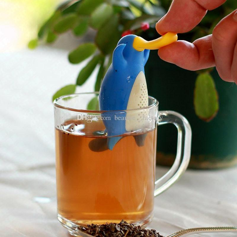 Duckbill разработанный чайный инфузерный утконос кофе инструмент листьев утки ситейта пищевой силиконовой силиконовой травяной специи фильтр 6 цветов