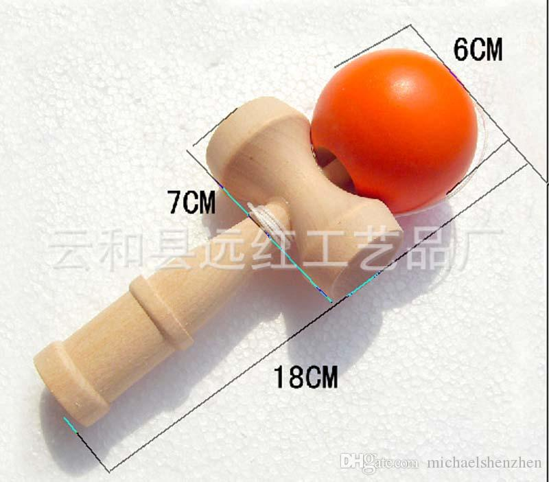 DHL/Fedex Free New Big size 18*6cm Kendama Ball Japanese Traditional Wood Game Toy Education Gift Children toys B001