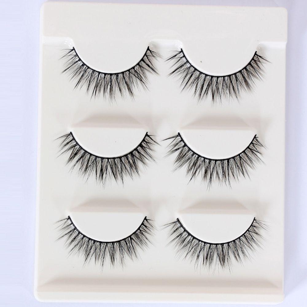 3D-07 False Eyelashes Handmade Natural Long False Eyelashes Soft Fake Eye Lash 3D Glam Volume Sexy Eyelash extension