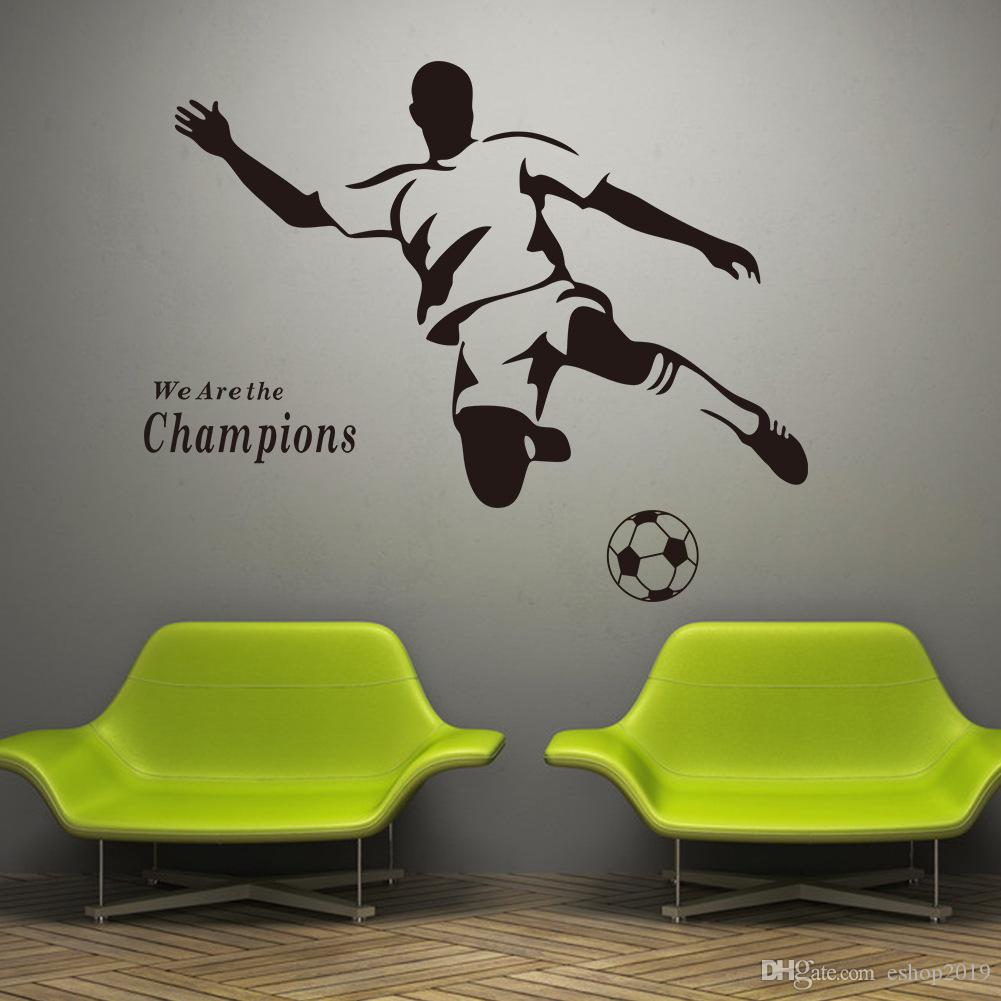 2016 new Soccer Wall Decal Sticker Sports Decoration Mural for Boys Room Wall Stickers free shipping