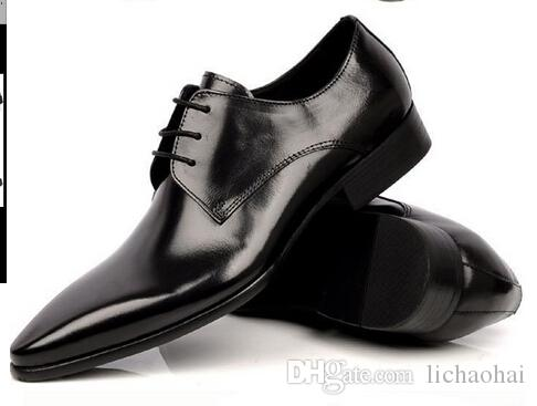 Cheap New Arrival Luxury Men Dress Shoes Hand Made Genuine Leather ...