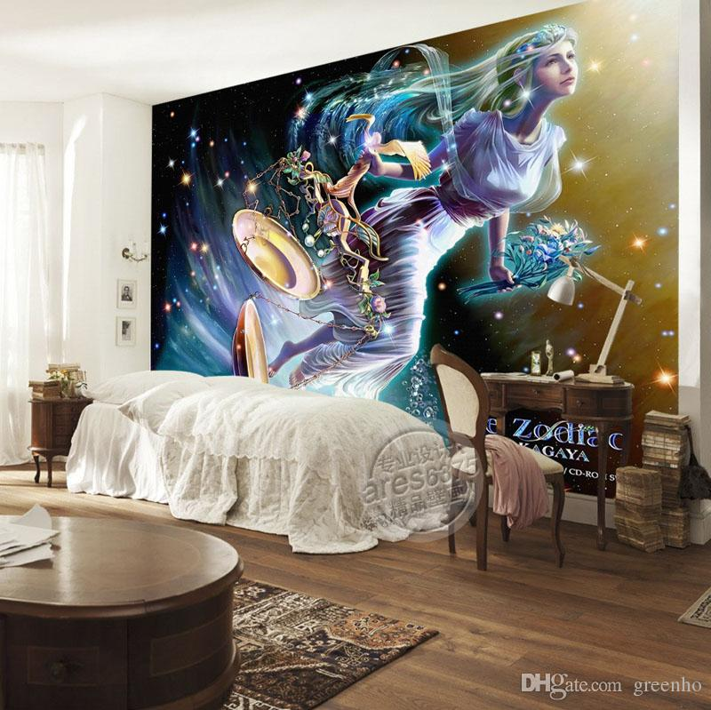 Perfect Libra Wallpaper Brilliant Galaxy Photo Wallpaper Custom 3D Wall Murals Art Room  Decor Kids Bedroom Interior Design 12 Constellations Beauty Girls Wallpapers  ...