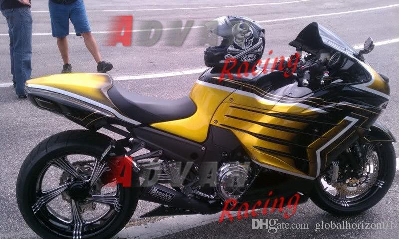 Carenatura iniezione gialla Kit set carrozzeria Kawasaki Ninja ZX14R 2012-2014 3