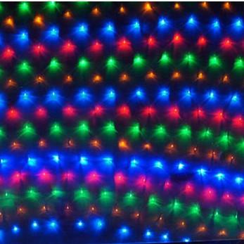 holiday christmas lights led net light flashing lights string lights all over the sky star head 15 m 15m 96led fishing nset led outdoor string lights