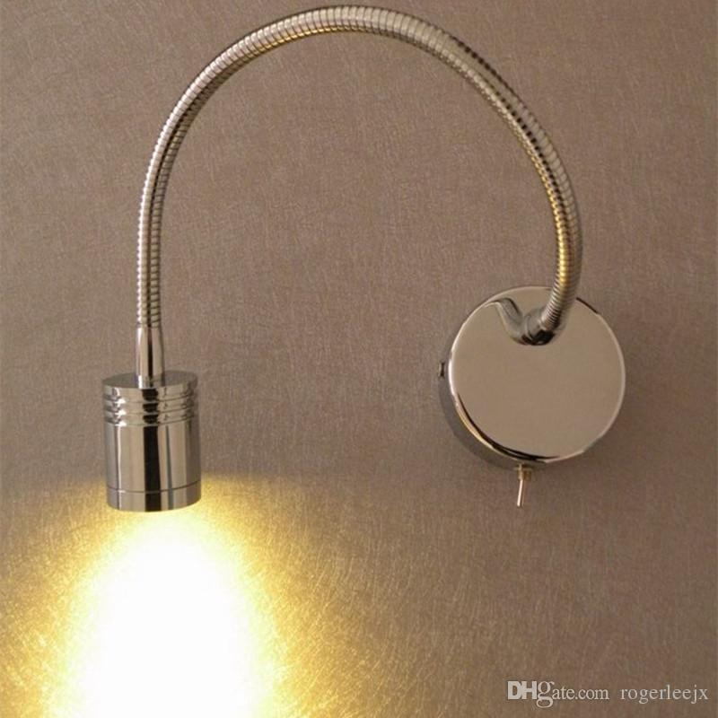 Snake LED Reading Lamp Chrome Finish Position Flexible Bright Healthy Light  200LM 3W CREE LED 35000hrs Life AC100 240V Or DC12V 24V Availabl Snake LED  ...