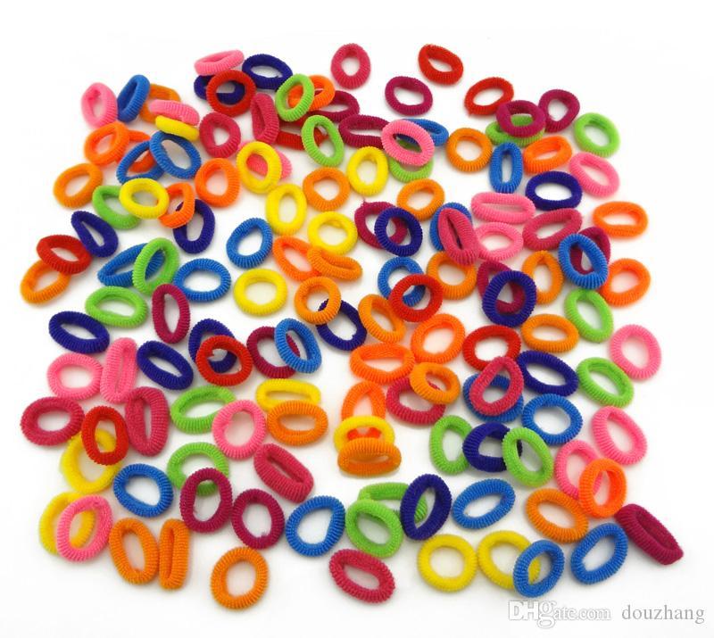 Gros Coloré Enfant Enfants Supports À Cheveux Mignon En Caoutchouc Bandes Cheveux Élastiques Accessoires Fille Femmes Charmes Tie Gum