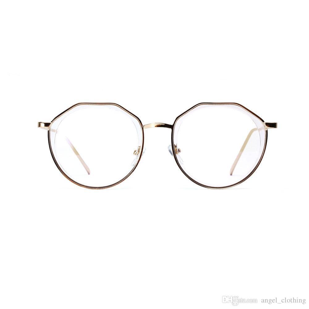 0b44a35d8d Fashion Vintage Polygon Retro Flat Light Mirror Metal Frame Glasses for  Women Men 4 Styles Select Model  3232 Sunglasses Eyewear Accessories Men  Women ...