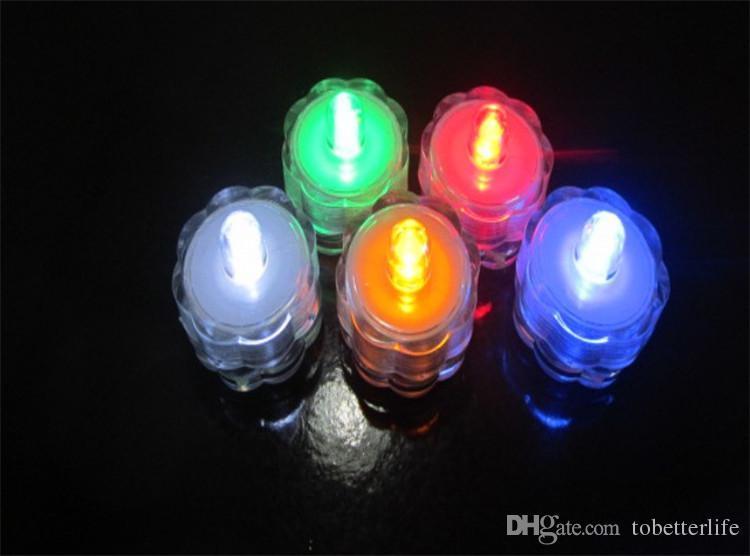 LED Submersível À Prova D 'Água Luz de Vela Lâmpada de Presente de Natal Vaso De Tanque de Peixe Chá Festa de Casamento Decoração de Casa Luzes Multicolor