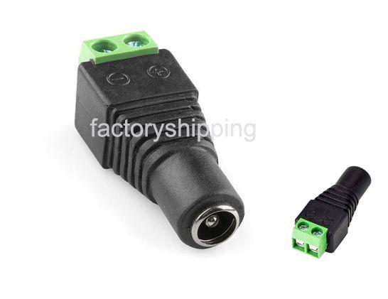 2.1mm DC Power plug Female Barrel Plug Adapter Plug Connector jack Terminals For LED strip Fedex / DHL