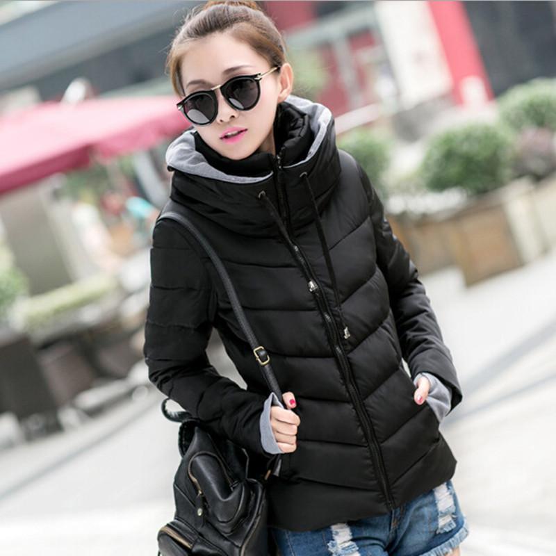 Compre New Hot 2016 Mulheres Jaqueta De Inverno Parka Grosso Outerwear  Inverno Plus Size Para Baixo Casaco Curto Design Fino Casaco Acolchoado De  Algodão ... 317f1fd50bea