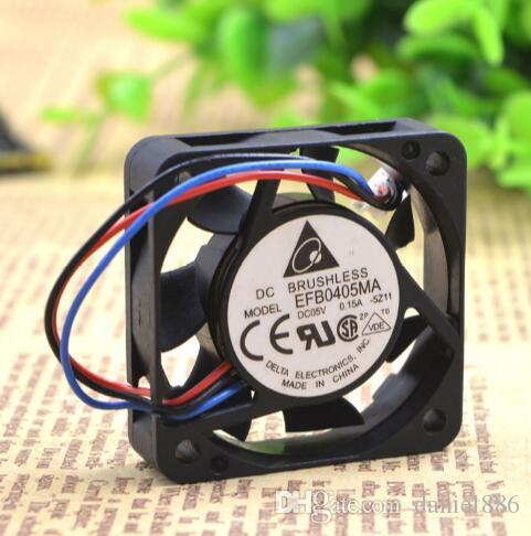 Оптовая продажа: оригинал DELTA EFB0405MA 5V 0.15A 4CM 40 * 40 * 10 3 проводная оборудование вентилятор охлаждения
