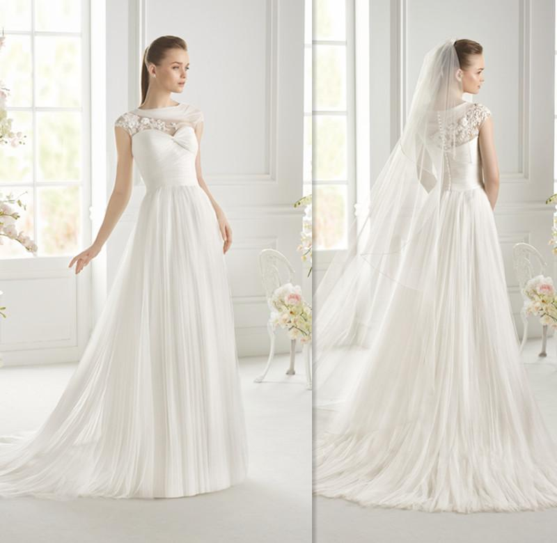 Greek Goddess Wedding Dress: Greek Goddess Wedding Dress White Tulle Sheer Bridal Gowns