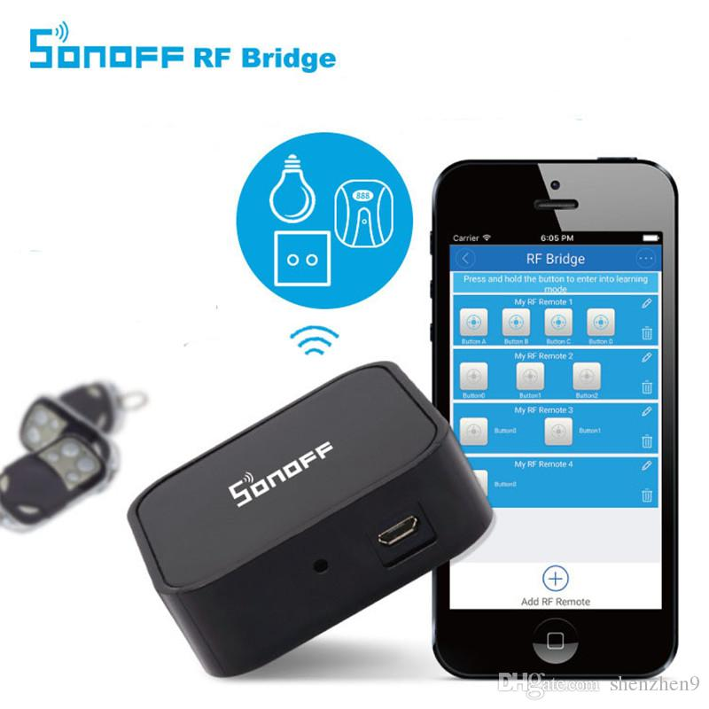 Sonoff RF Bridge WiFi 433 MHz Replacement Smart Home Automation Universal Switch Intelligent Domotica Wi-Fi RF Remote Controller OTH723