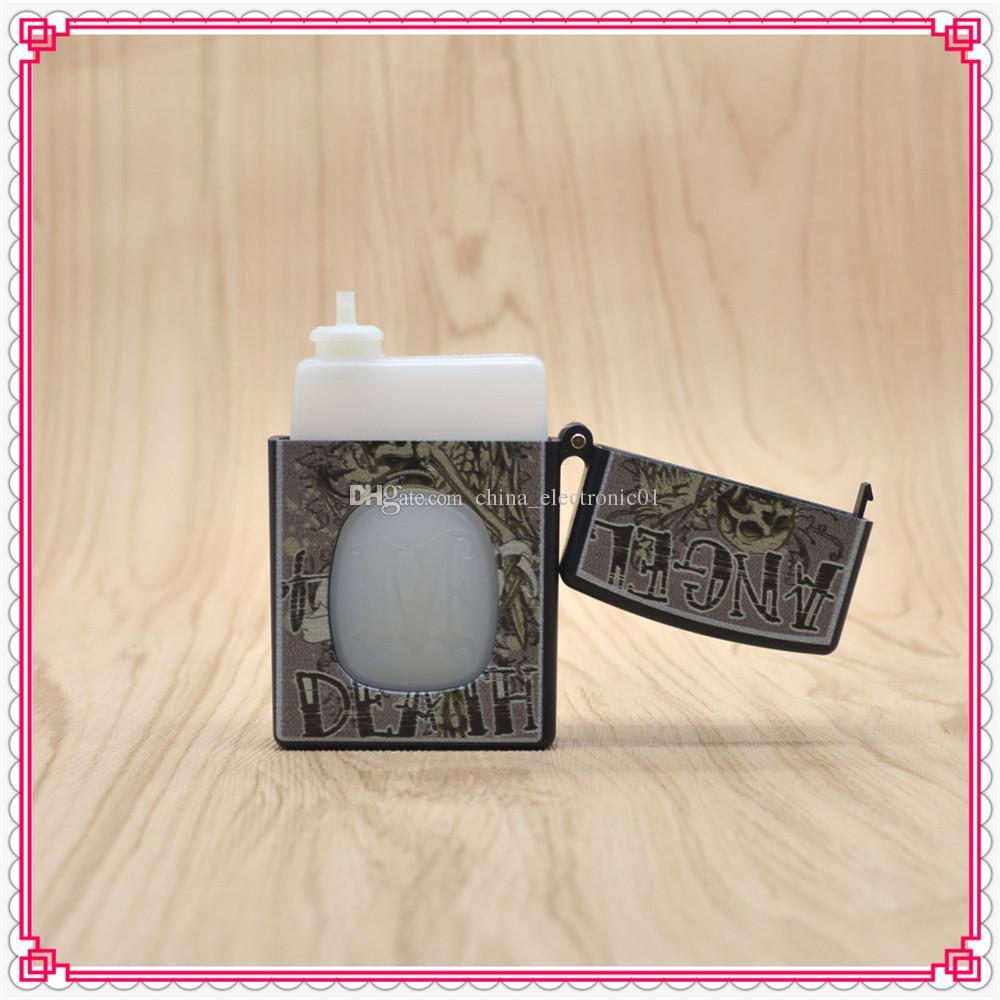 Protable 2016 Little beard boy lighter style plastic 20ml 30ml box eliquid needle bottle ABS & PE empty oil dropper bottle for ecig DHL