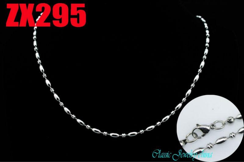 """New arrivals great quality recommend 16""""-34"""" length 3mm fancy ball chain stainless steel necklace men women fashion beads chains ZX295"""