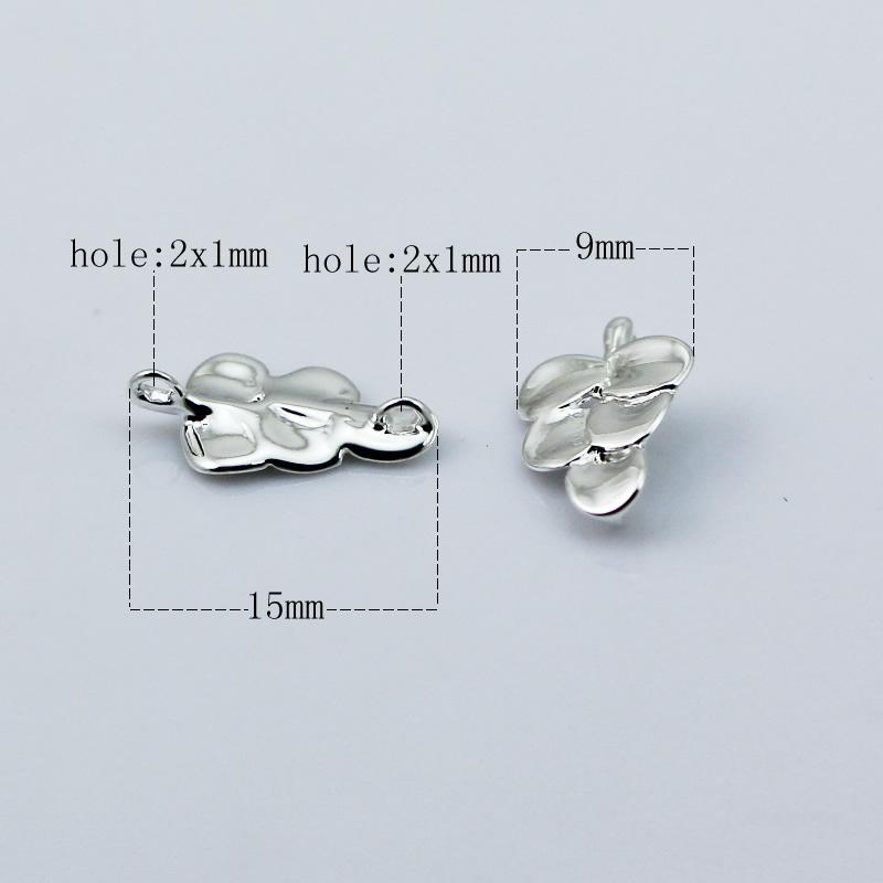Beadsnice leaf charm pendant connector handmade jewelry material earring findings necklace component nickel free lead free ID 27411