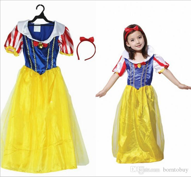 halloween costume snow white clothes for kids girls stage performance costume children snow white costumes classic princess costumes hc33 halloween costume