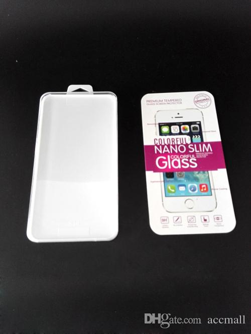 Empty Tempered Glass Retail Package Box Crystal For iPhone 6 Plus 5 5S 4S 4 Samsung Note 4 S5 Screen Protector Film Dust-absorber Alcohol