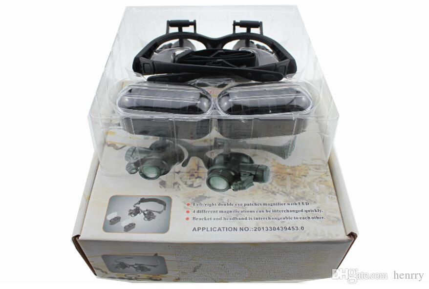 5-25 4 أنواع من النظارات المكبرة المزدوجة المثبتة على الرأس ، النظارات المكبرة من النوع الذي يعمل مع مصابيح LED ، الرحلات الميدانية لتكبير النظارات