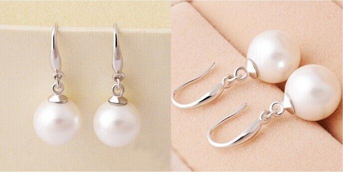Стерлингового серебра 925 пробы серьги-капли из циркония высокого качества одного простого жемчуга роскошные женщины ювелирные изделия