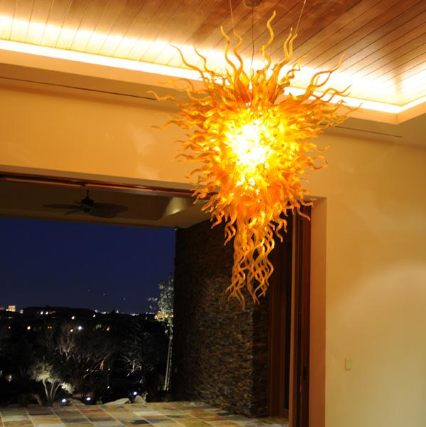 100٪ الفم في مهب CE UL البورسليكات زجاج مورانو كيلي دايل الفن غرفة الثريا يتوهم سقف الأنوار