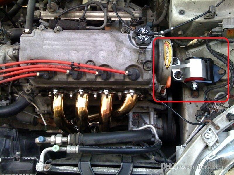 Tansky - araba yarış parçaları Honda Civic 92-95 CXX-M4-BK için Yüksek Performanslı Alüminyum Sol El Motor Dağı