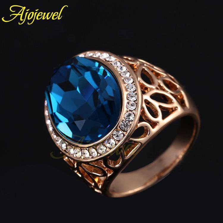 Blue Sapphire Ring For Men Price FG Size 7-9 Rose Gold ...