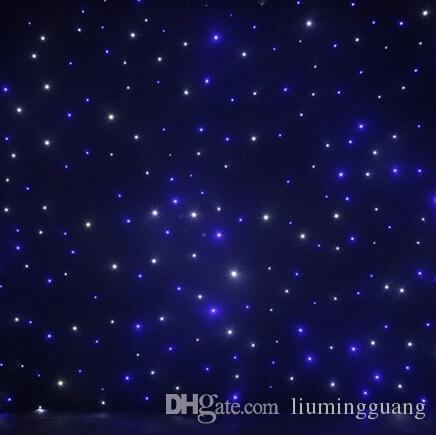led star curtain 4mx6m wedding backdrop stage background cloth with multi controller dmx function
