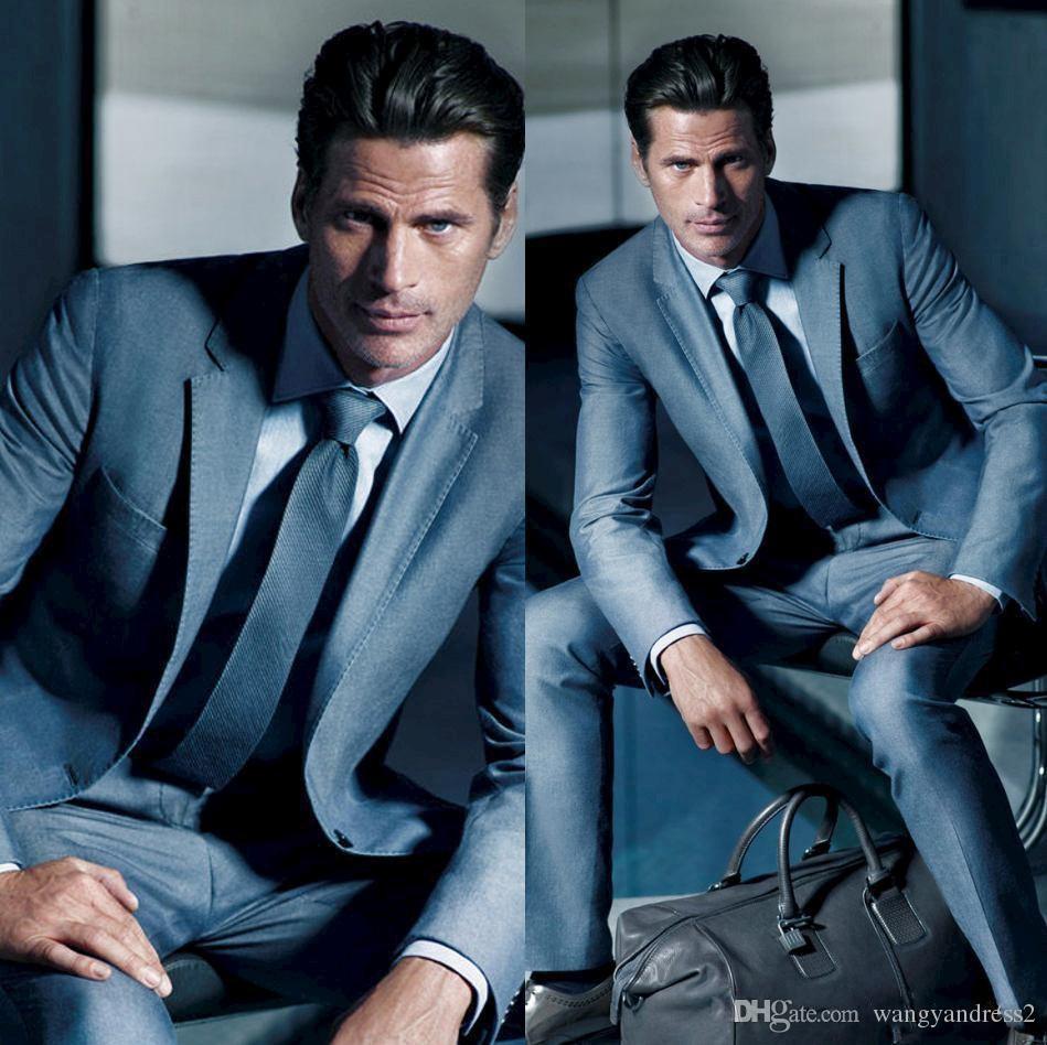 Mode Maßgeschneiderte Revers Hochzeit Anzüge Slim Fit Bräutigam Smoking Formelle Anzüge bräutigam trägt Groomsman anzüge Jacke + Pants + Vests