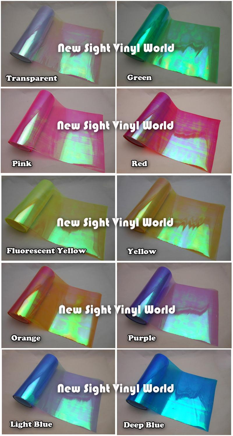 10 Rollsrainbow Effect Car Light Chameleon Headlight Film