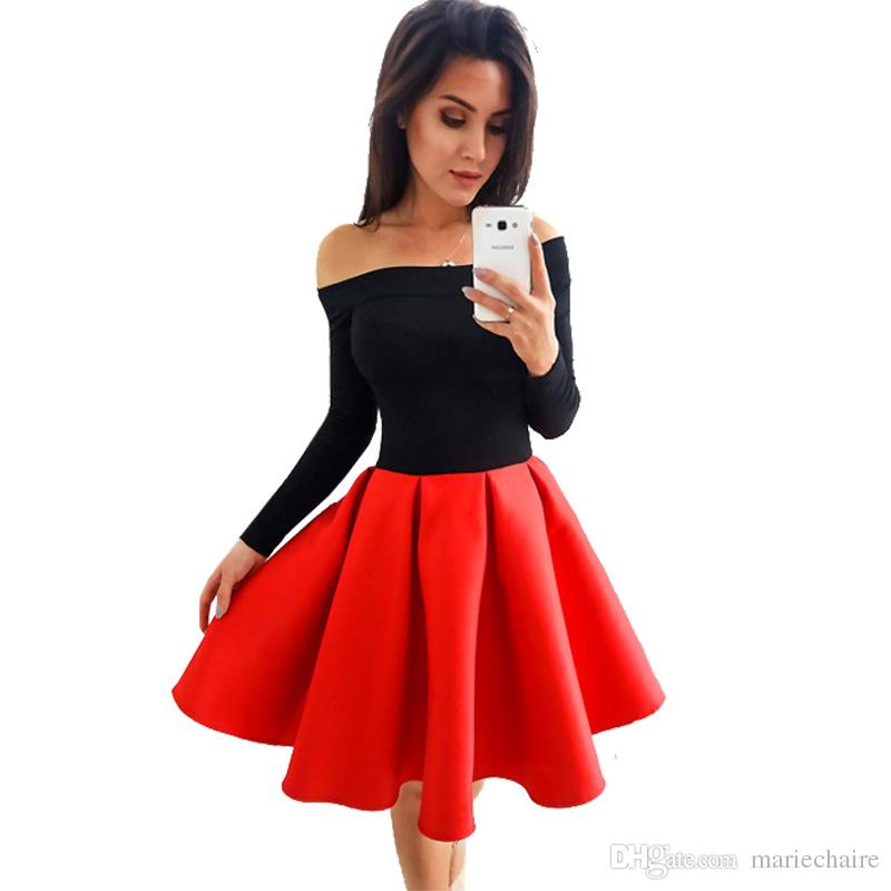 2017 women long sleeve winter new dress fashionable word brought the bitter fleabane bitter fleabane skirt