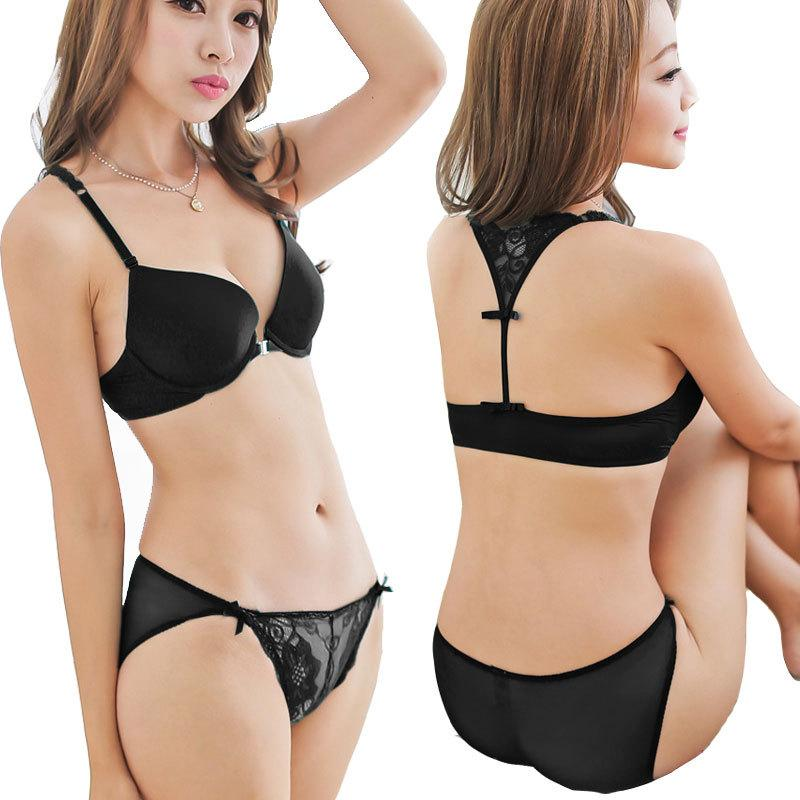 56faa3c3e8acf 2019 Japanese Korea Style Sexy Y Type Lingerie Set Women Underwear  Underwear Bra Set Woman Embroidery Push Up Bra Set Conjuntos From Ariclai