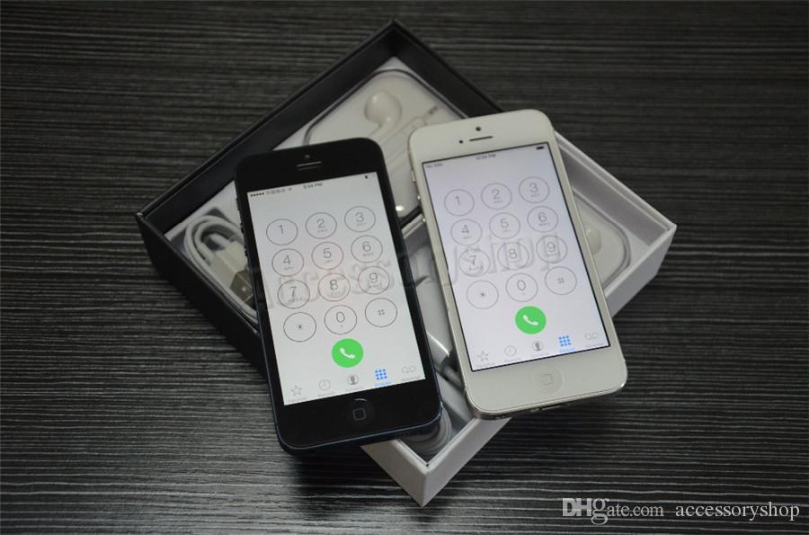 Refurbished Original Apple iPhone 5 16GB/32GB/64GB 4.0 inch Dual Core 1G RAM IOS8 3G 8MP 1080P Unlocked Mobile Smart Phone Free Post