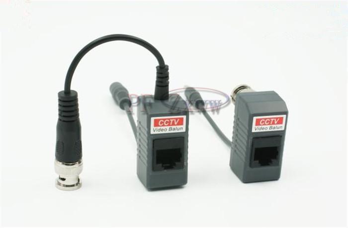 BNC CCTV RJ45 Video + Power Balun by UTP CAT5 Transmit Receiver Connector HZ 1367