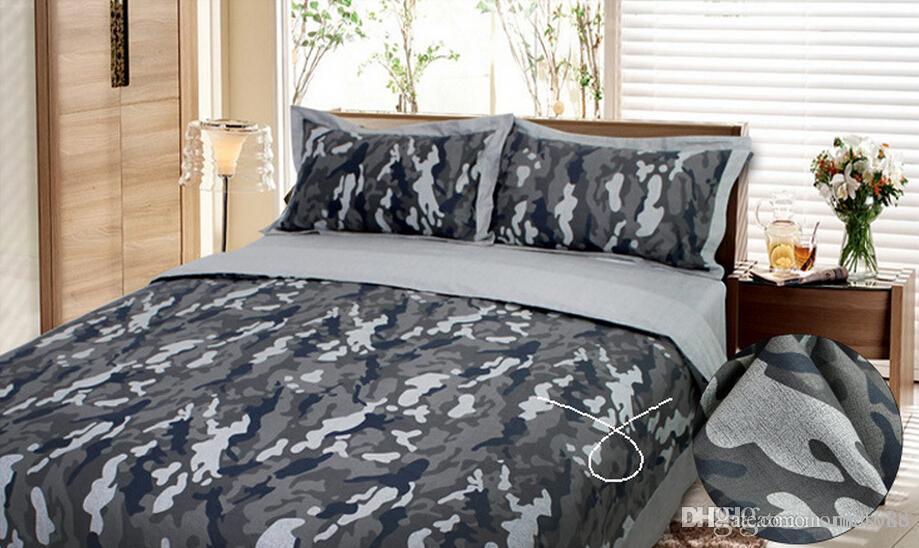Acheter Camouflage Armee Camo Ensembles De Literie Roi Reine Taille