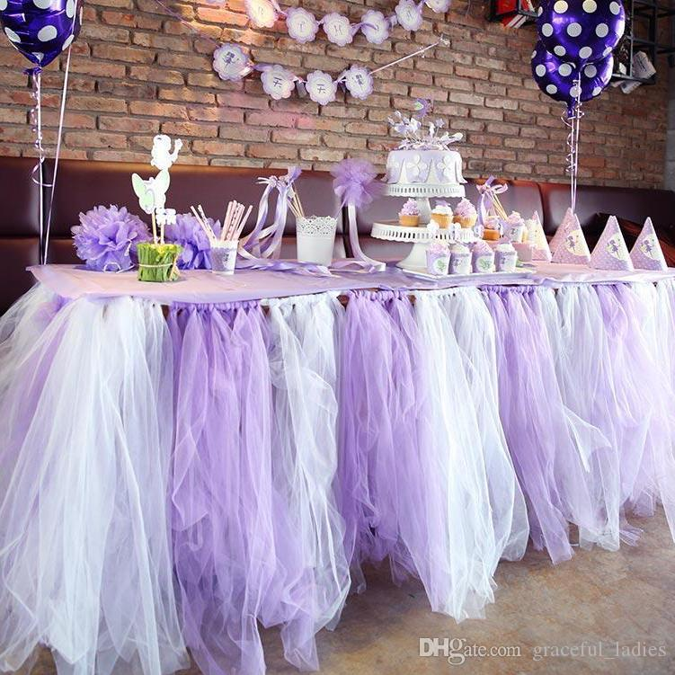 Colorful Wedding Table Tulle Wedding Decorations Custom Made Length Wedding  Party Formal Event Wedding Suppliers Birthday Party Table Sash