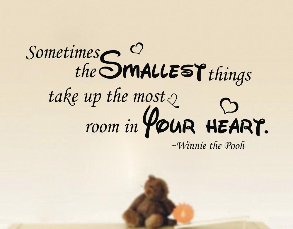 Wall Sticker Quotes Hot Selling Sometimes Smallest Things Winnie The Pooh  Wall Quote Nursery Sticker Vinyl Decal Reusable Wall Decals Reusable Wall  Stickers ... Part 37