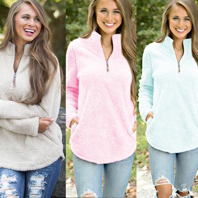 Fashion Fleece Women Basic Pullover Autumn Winter Warm Thick Velvet Solid Long Sleeve Turtleneck Women Hoodie