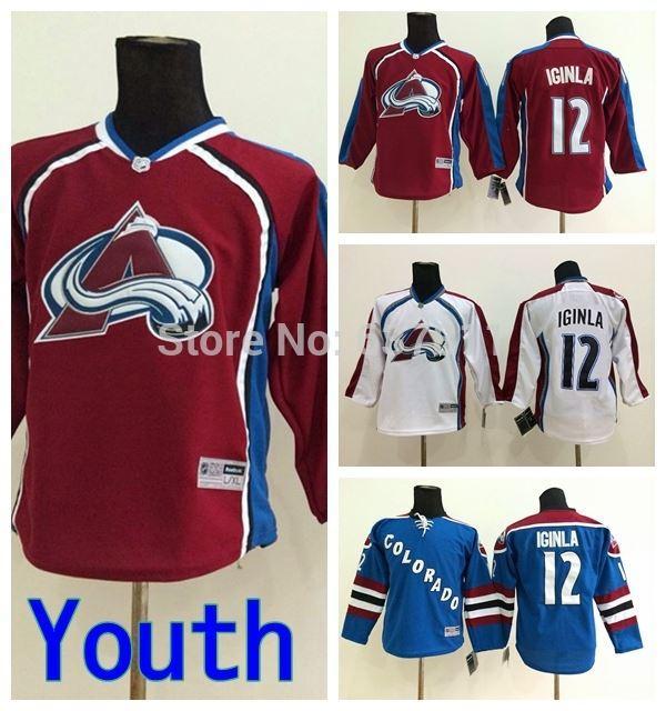 2017 Kids Colorado Avalanche Jarome Iginla Hockey Jerseys
