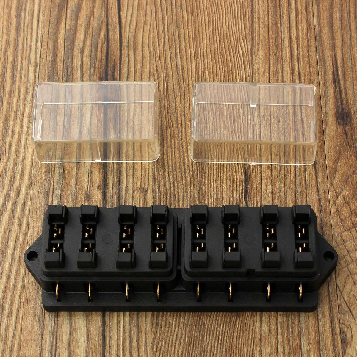 Universal 12v 8way Car Truck Automotive Blade Fuse Box Holder Circuit With Cover Order15 No Tracking