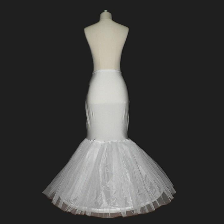 En stock Jupons sirène Crinoline Blanc 2015 Jupon nu-jupe Slip One Hoops Jupon pleine longueur pour le soir / bal / robes de mariée