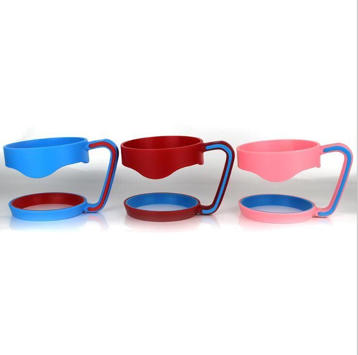 Ao ar livre Portátil copo De Plástico Hand handle Titulares para 30 oz copo cooler Canecas Mão Titular Para 30oz Copos De Aço Inoxidável