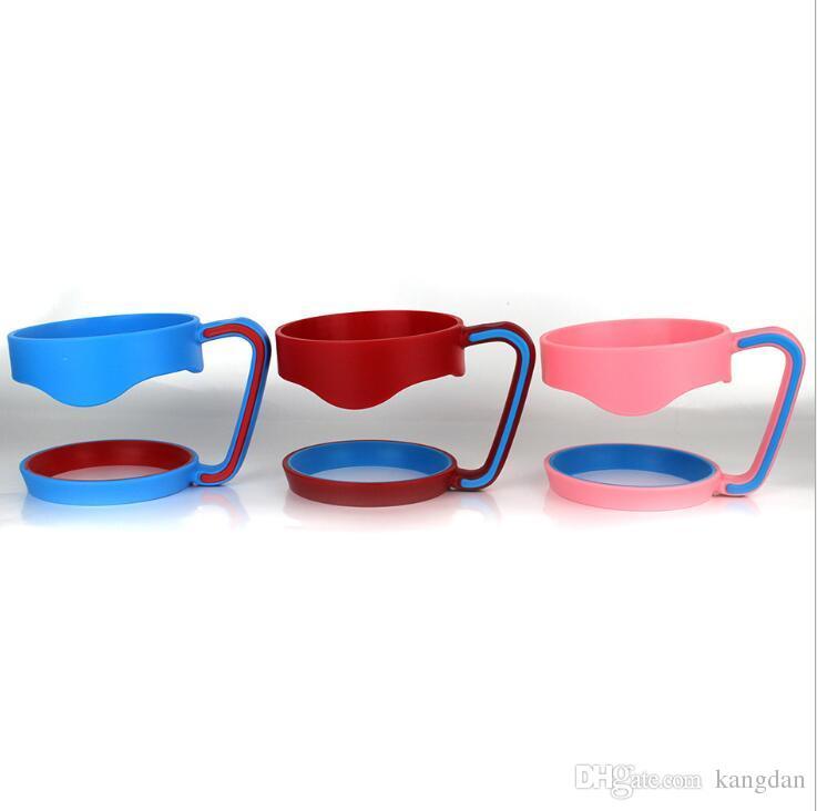 Tasses en plastique portatives de poignées pour 30oz Tumbler Cups Titulaire sécurisé pour 30oz en acier inoxydable isolé Tumbler Tasses