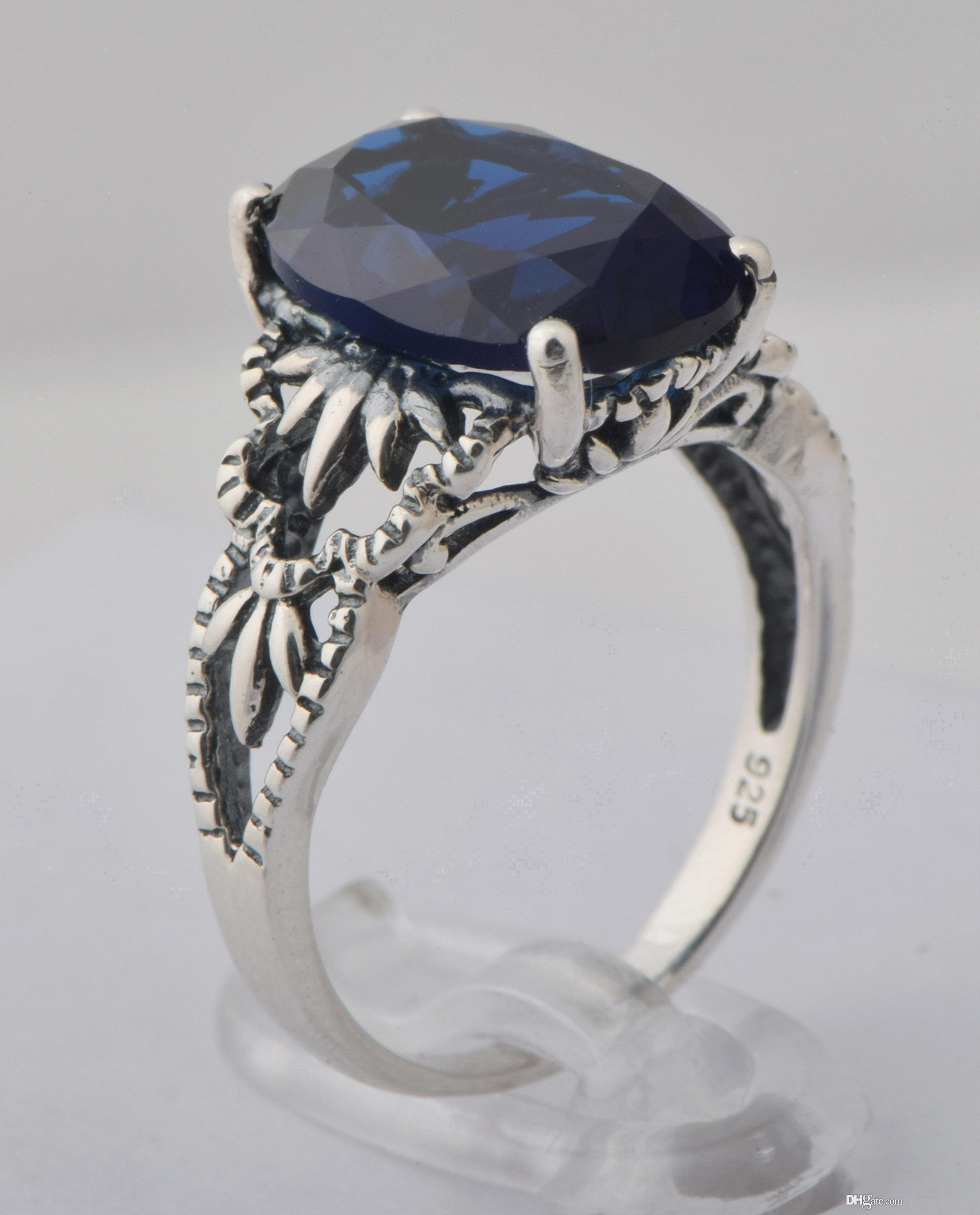 saffire diamond gold sapphire gemstone ring rings engagement pid blue and white
