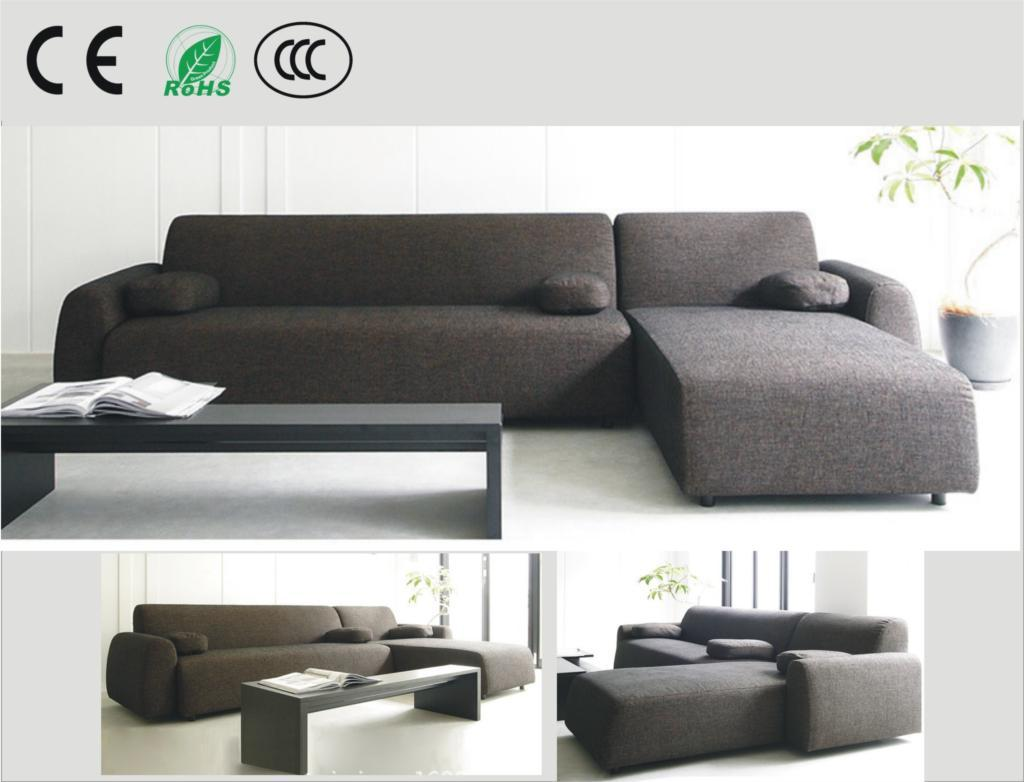 Japanese-style fabric sofa small apartment sofa corner sofa combination of  L-type cotton washable
