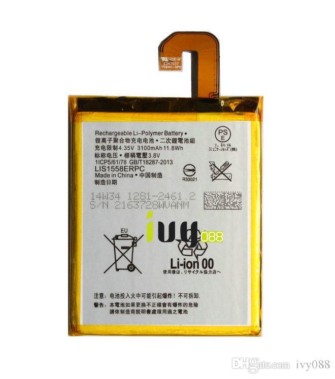 100 % 정품 정품 LIS1558ERPC 3100mAh 교체 용 배터리, SONY Z3 L55 L55T L55U D6603 D6653 D6616 D6633 배터리 Batteria Batterij