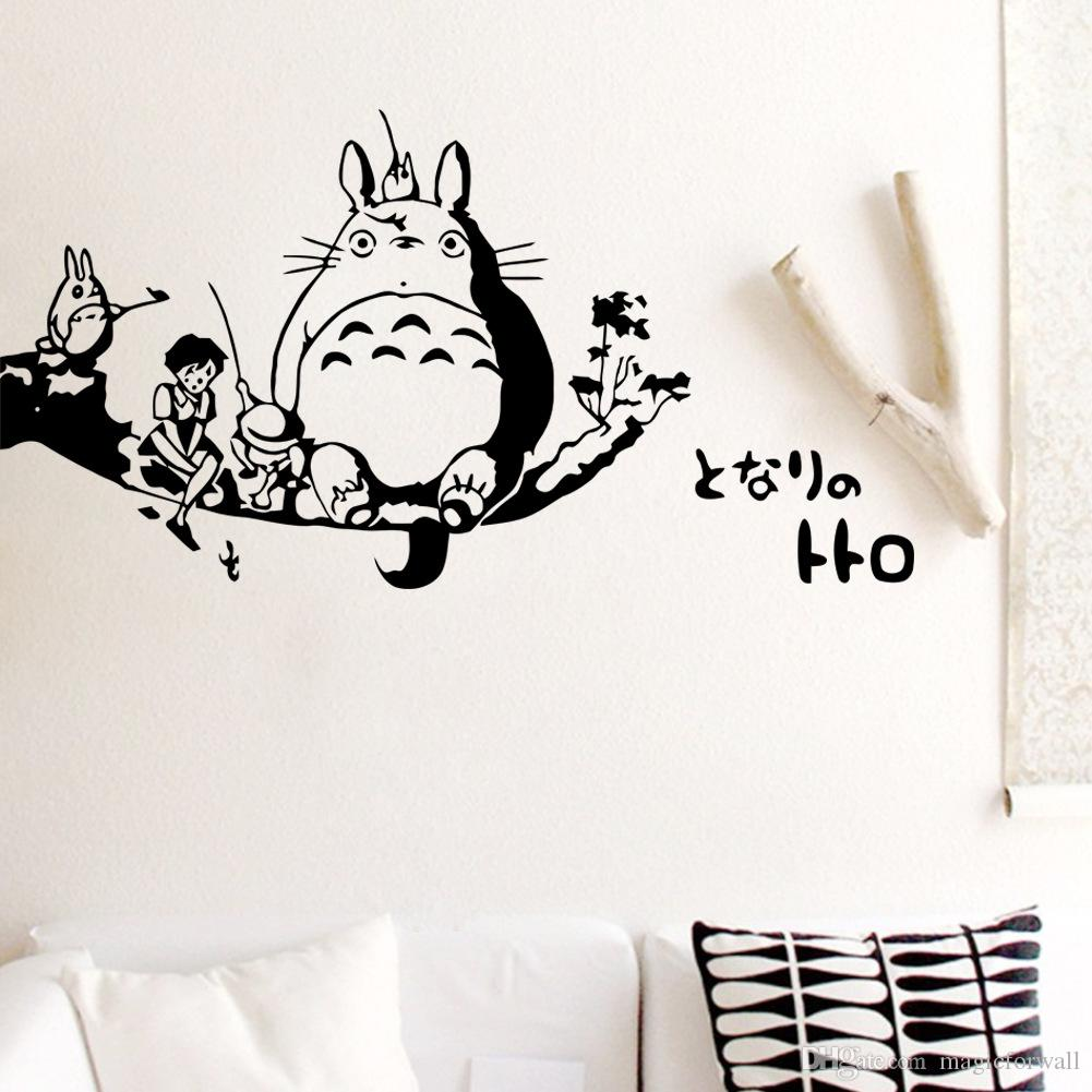 totoro wall decal sticker kids room wall decor art mural poster totoro wall decal sticker kids room wall decor art mural poster home decoration wallpaper applique online game creative wall graphic wall stickers for