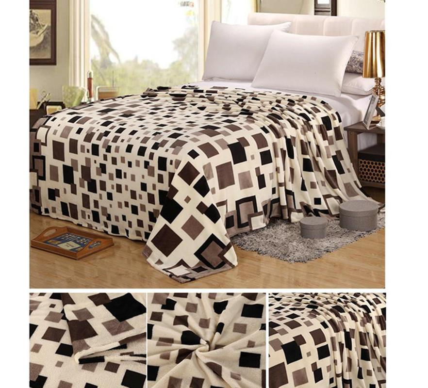 Wholesale- Urijk Bedspread Fleece Blanket Warm Soft Flannel Blanket Pattern  Blankets for Beds Cars Sofa Portable Plaid Bed Flannel Blanket Flannel  Blanket ... cfb62288e